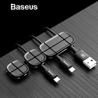 Baseus Mobile Phone Cable Organizer Management for Home Desktop Storage for Car Styling Charger Cable Clip Computer Accessory