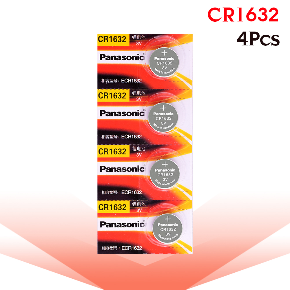 4 X Original Brand New Battery For PANASONIC Cr1632 3v Button Cell Coin Batteries For Watch Computer Cr 1632 Suitable Watch