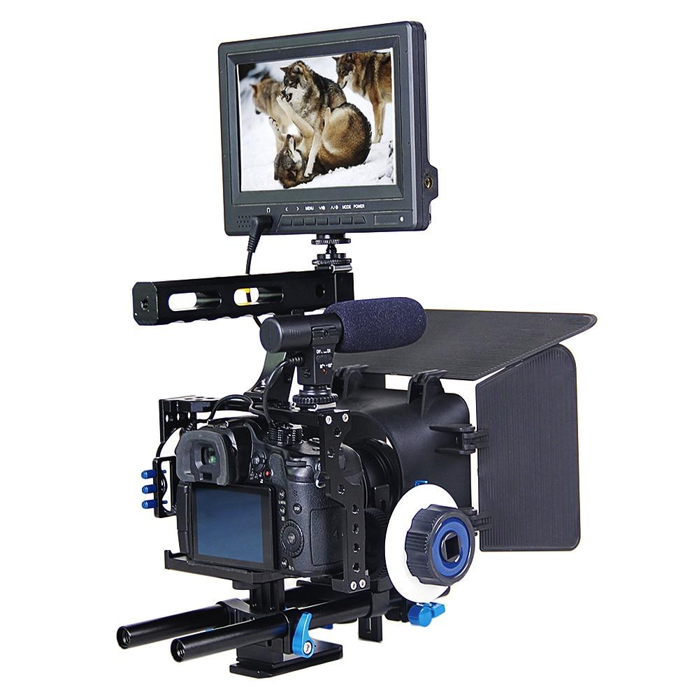 Camera Camera Dslr Rig aliexpress com buy professional handle dslr rig stabilizer video camera cagefollow focusmatte box kit for sony a7s a7 a7r a7r