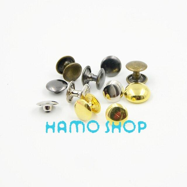 100 pçs lote 10x10mm Color Mix Duplo Cap Rebite Tubular Sapatos Saco de  Roupa Cinto 92ad11353a1