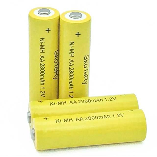 20pcs a lot AA Ni-MH 1.2V AA Rechargeable 2800mAh Neutral Battery Rechargeable battery aa batteries for Flashlight/Camera