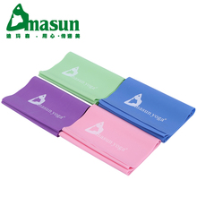 DMASUN Yoga elastic Resistance Bands yoga belt 150 cm fitness slimming natural rubber srtap