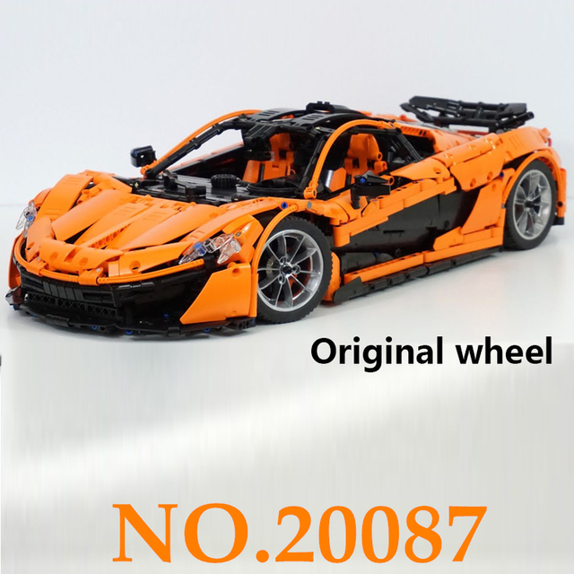 20087 3725pcs Technical Toys The MOC-16915 Orange Super Racing Car Set Building Blocks Bricks Assembled DIY Gifts lepin