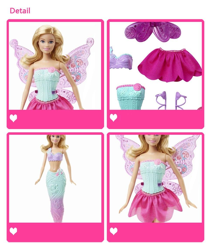 Original Barbie Fairytale Mermaid Dress Up Doll 8