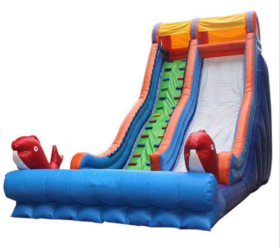 Коммерческих гигантские надувные сухой слайд-надувные ПВХ брезент для детей