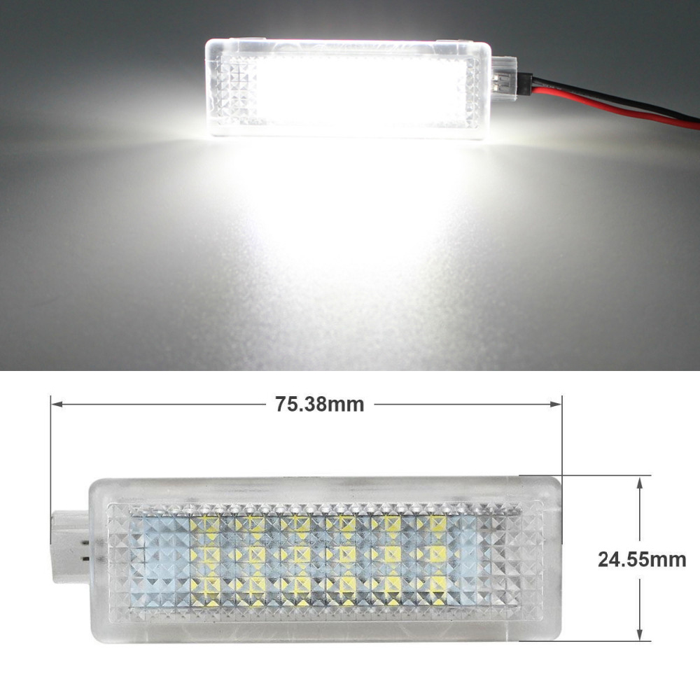 1Pcs Car LED Door Welcome Light 12V White SMD3528 LED Courtesy Lamp Bulb Kit For BMW E90 E91 E92 E93 F10 F11 F12 F18 Accessories awo 400 0401 00 projector lamp with housing for projection design f1 sx f1 sxga f10 1080 f10 as3d f10 wuxga f12 1080 f12 sx