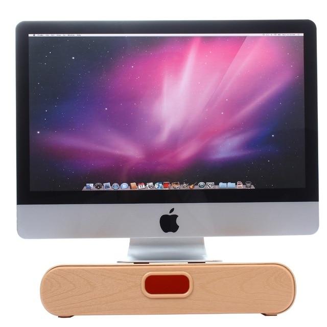 5aae93540a43d Nueva Original Samdi Soporte para Apple iMac Ordenador PC de Escritorio De  Madera de Roble Blanco