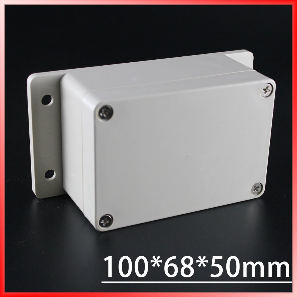 (1 piece/lot) 100*68*50mm Grey ABS Plastic IP65 Waterproof Enclosure PVC Junction Box Electronic Project Instrument Case 1 piece lot 160 110 90mm grey abs plastic ip65 waterproof enclosure pvc junction box electronic project instrument case