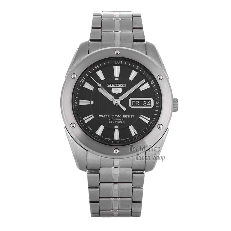 SEIKO Shield No.5 Business Week Calendar Steel Band Automatic Machine Male Watch SNKE01J1 SNZF36J1 SNZF35J1 seiko 5 snke53k1s