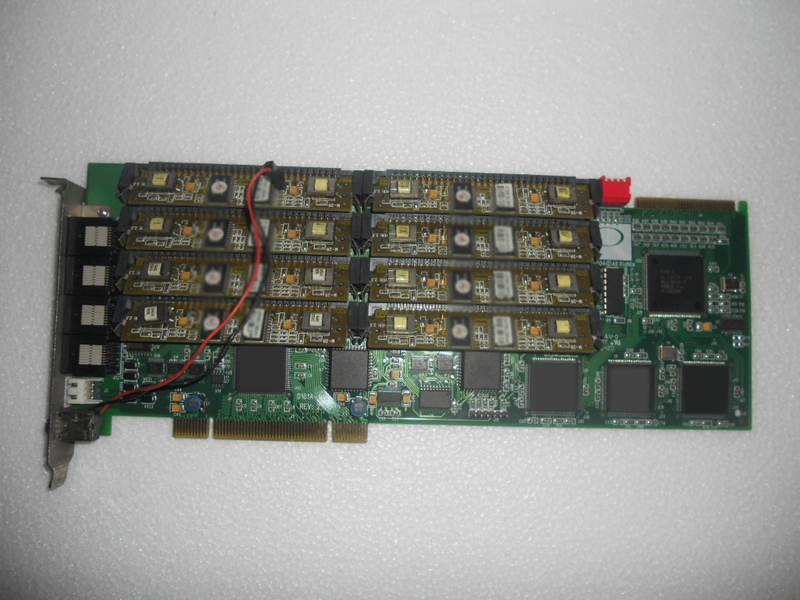 Voice card D161AR REV: 2.4 with 8 W-2R 16-channel recording industrial motherboard