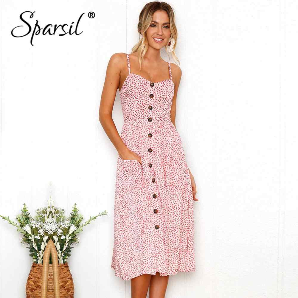 Spasril 2019 женское платье на бретельках стильные сексуальные платья на подтяжках с цветочным принтом летнее пляжное женское вечернее платье с карманами