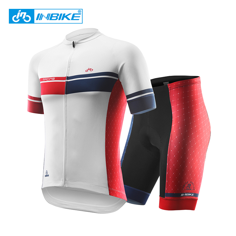 INBIKE 2017 Men's Cycling Jersey Sets Summer Breathable Jersey & Shorts Gel Padded Short Sleeve Jerseys G03 cycling jersey 176 hot selling hot cycling jerseys red lily summer cycling jersey 2017 anti shrink compressed femail adequate qu