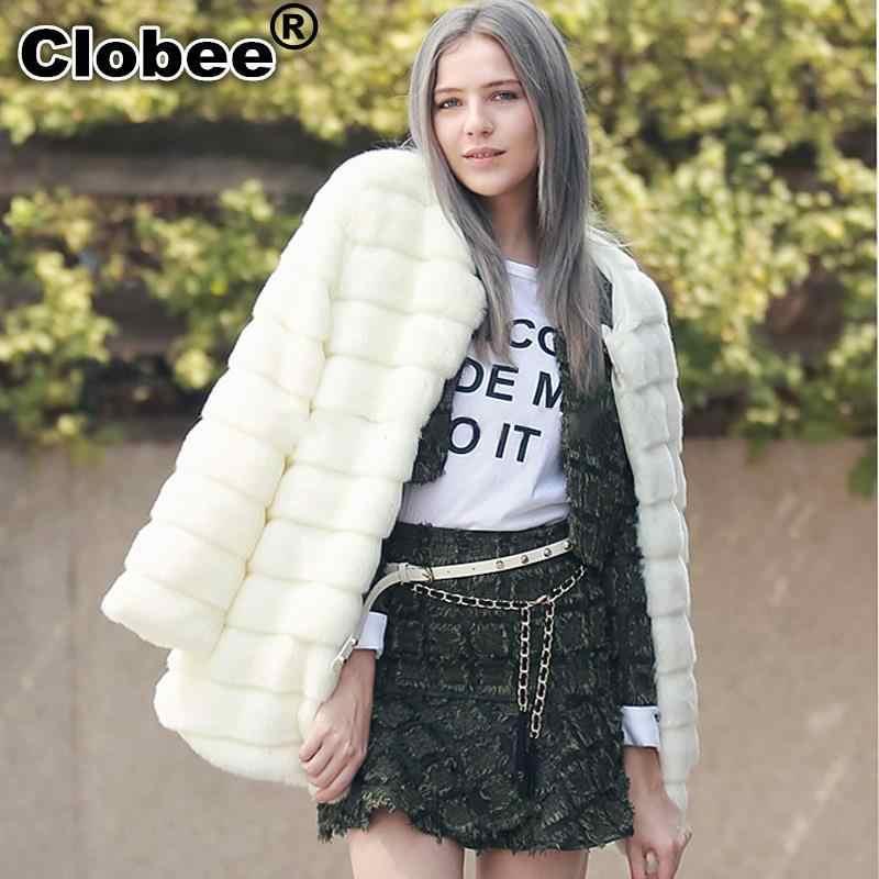 Casaco Feminino/верхняя одежда из искусственного меха для девочек, шубы из меха розового цвета женская зимняя меховая куртка с длинными рукавами пушистый мех, Топ