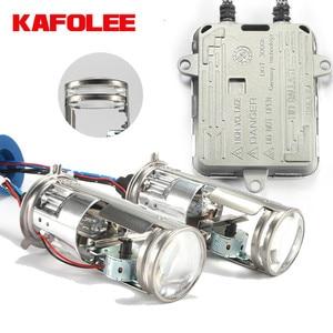 Image 1 - KAFOLEE bombillas de faro delantero de coche, miniproyector de doble lente de Xenón hid, h4, 12V, 4300K, 6000k, 8000k, 55W