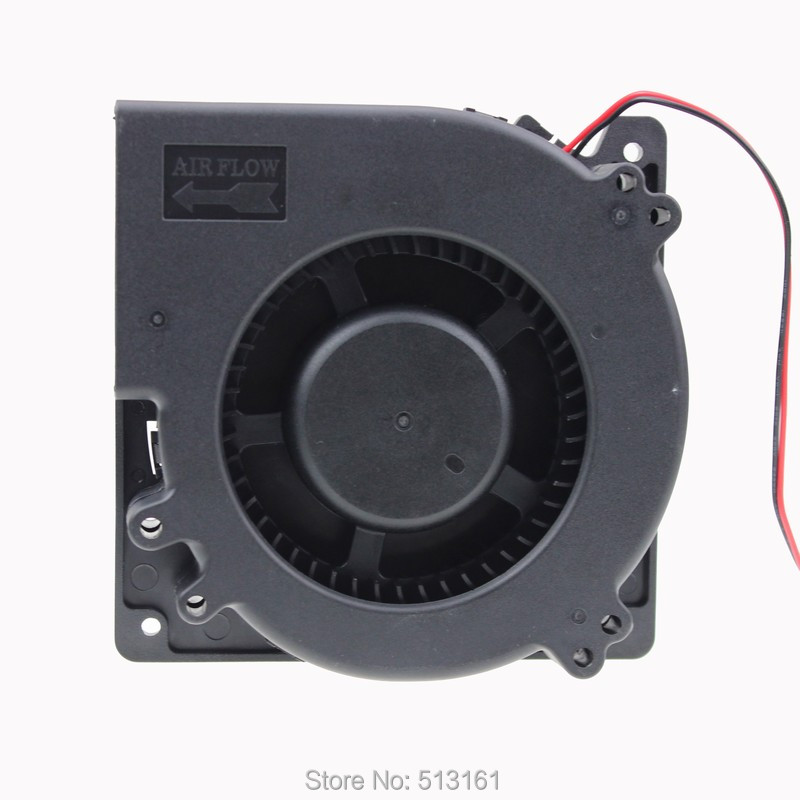 Gdstime 120mm 12cm 120X120X32mm Ball Computer Radial Blower DC Cooling Fan 24V gdstime 1 piece 2 wire cooling brushless exhuat blower cooling fan 120mm 2 pin 120x120x32mm dc 12v 12032 sleeve bearing