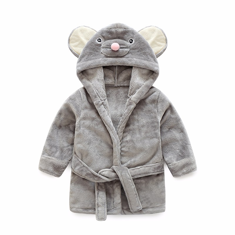 2018 High Quality Childrens Bathrobe Retail! Baby 1pcs Boy Girl Soft Velvet Robe Pajamas ...
