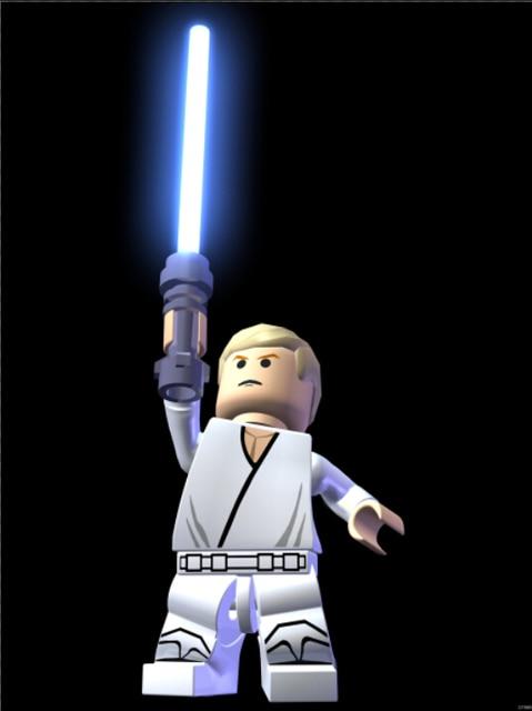 Luke Skywalker Lego Star Wars Lightsaber Art Huge Print Poster