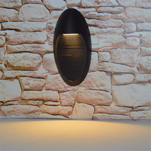 Thrisdaarr LED 5W oval outdoor waterproof wall lamp surface installation passage aisle stair
