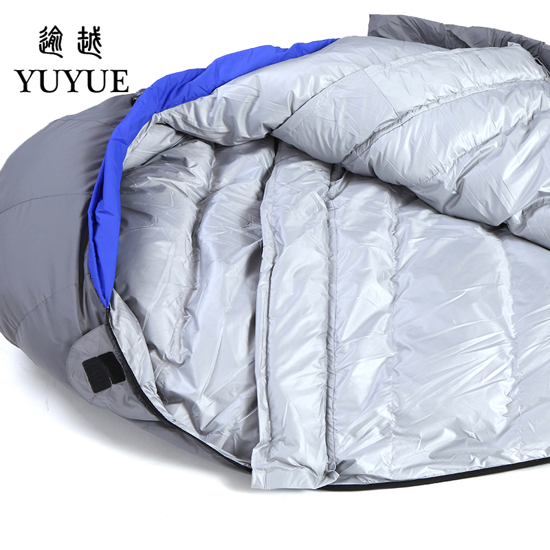 Outdoor Adult Warm Down Sleeping Bag For Winter Camping Tent Waterproof Nylon Survival Sleeping Bag Camping Tourism Supplies 2