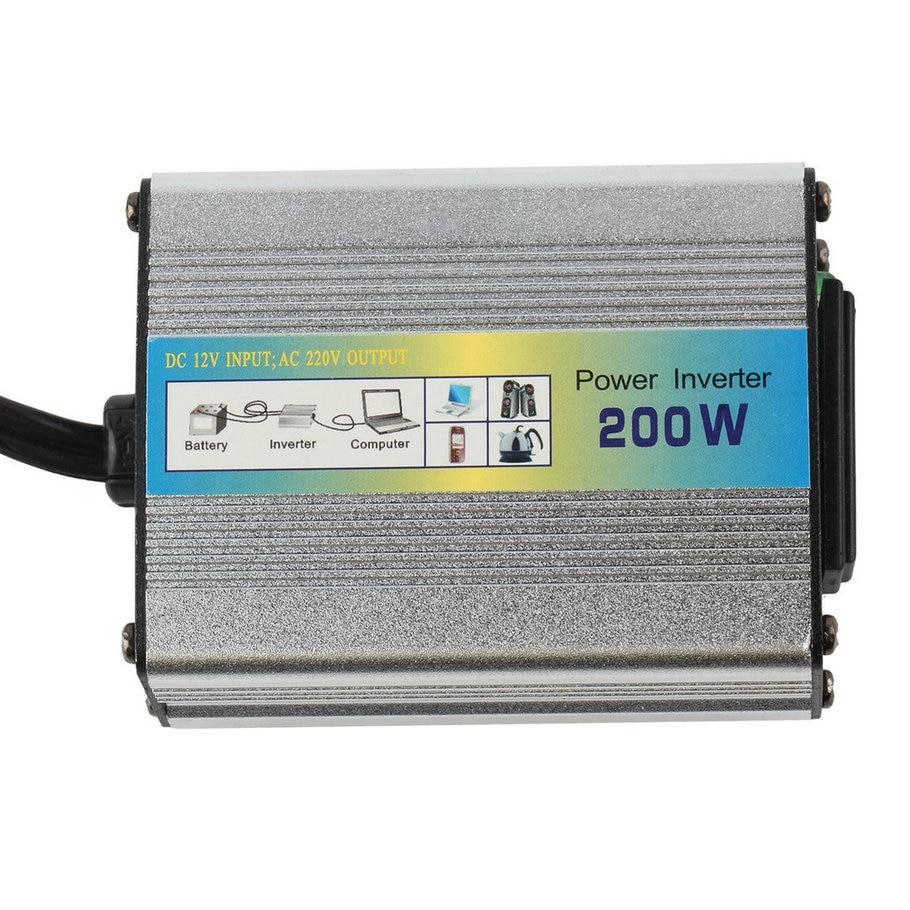New 1pcs 12V DC to AC 220V Car Auto Power Inverter Converter Adapter Adaptor 200W USB hot selling