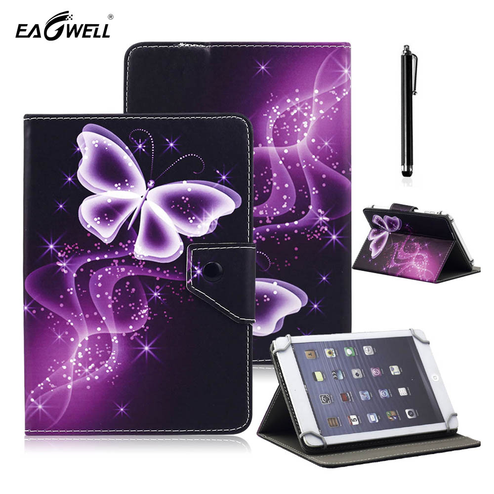 все цены на Universal Tablet PC Case for 9.7 inch 10.1 inch 10 inch Flip Stand Magnetic Print Leather Cover For Samsung Android Pad Tab Skin онлайн