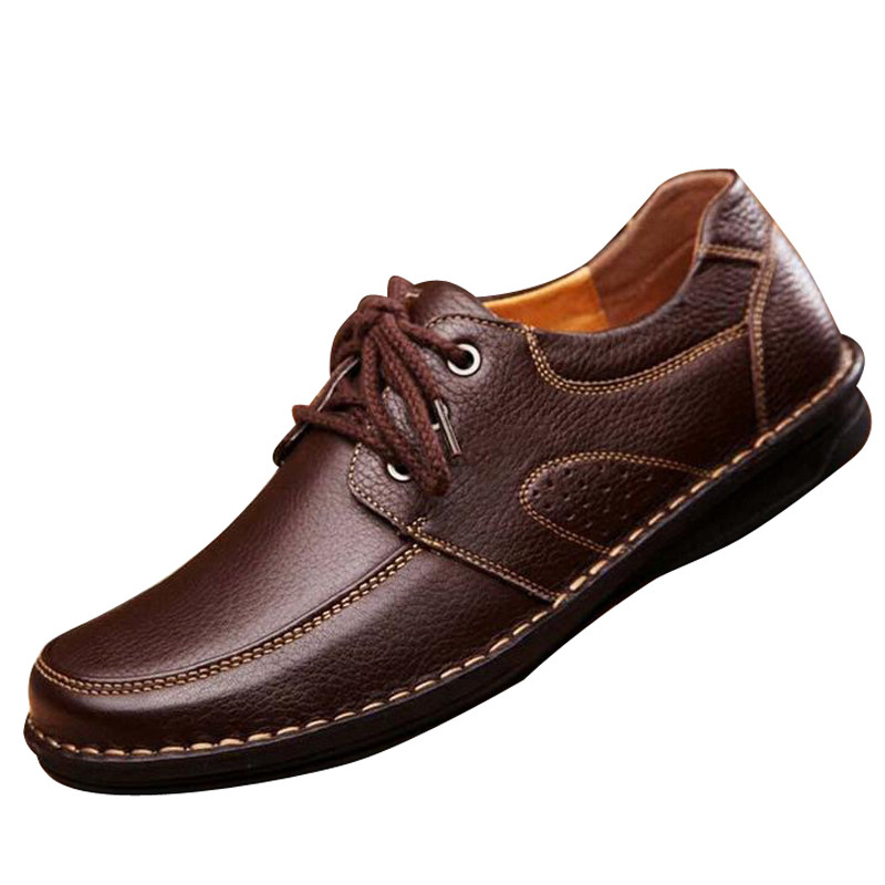 Men Casual Shoes Spring Soild PU Leather Shoes Man Autumn Lace Up Basic Flats Male Slip On Loafers Size 38-44 free shipping small size 38 39 44 men spring autumn flats boy genuine leather shoe students fashion trend lace up shoes non slip