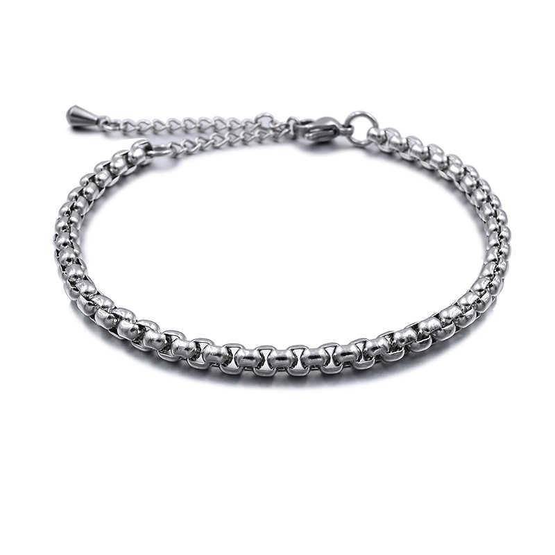 2019 ze stali nierdzewnej plażowe obrączki dla kobiet akcesoria srebrny kolor biżuteria na kostce nogi bransoletka łańcuszek na kostkę mężczyźni łańcuszek na kostkę prezent