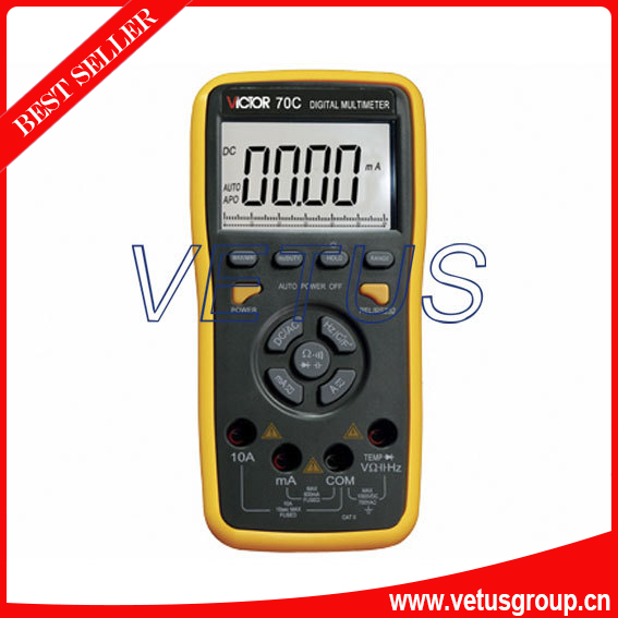 VICTOR 70C VC70C 3 5/6 Key Touch Digital Multimeter true rms ammeter multitester victor 70c 3 5 6key touch digital multimeter resistance capacitance victor multimeter