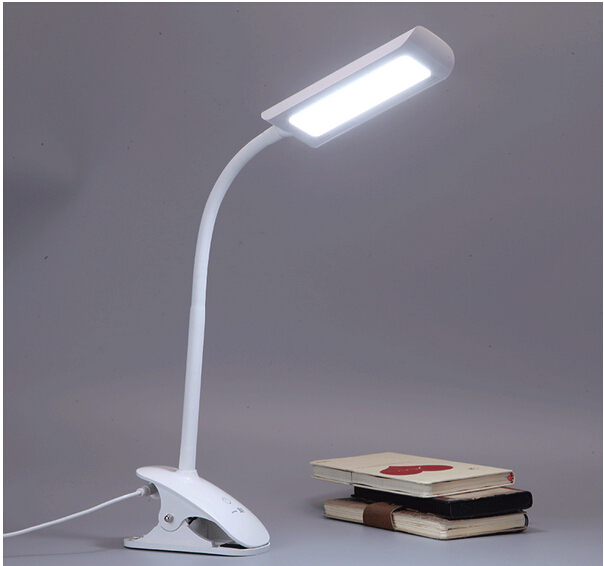 100%quality Eye protected clip holder hanging led 7w book lamp ABS flexible reading lamp study office table light AC110-260V1656