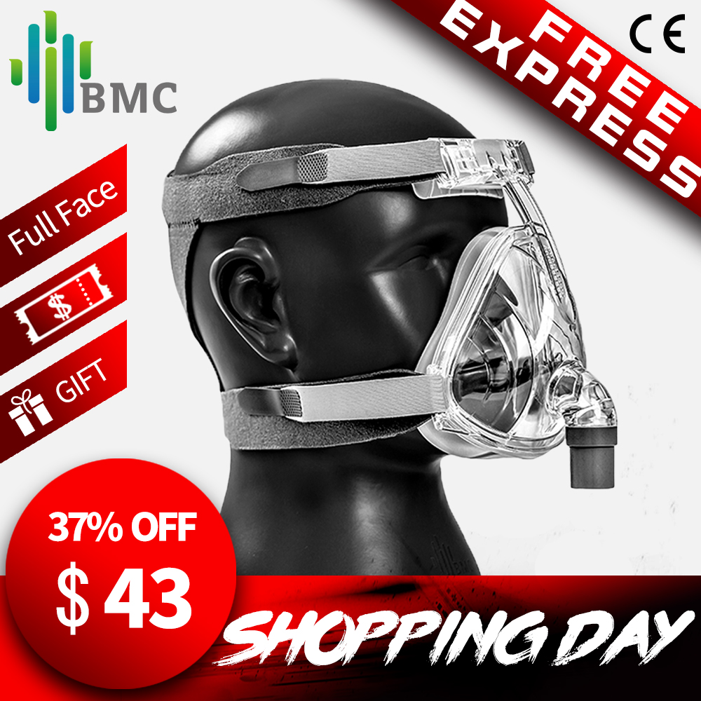 BMC FM2 Full Face Mask 2016 Модная родо-носовая маска для CPAP аппарата с размером S / M / L помогает пациентам с храпом получить эффективную терапию