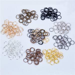4/6/8/10mm 200pcs Single Loops Open Jump Rings Split Rings For Jewelry Making Necklace Bracelet DIY Accessories