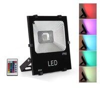 2pcs 10W 20W 30W 50W 100W 200W 300W RGB LED Floodlight Multi color RF Flood Outdoor Lamp Lighting Courtyard Light