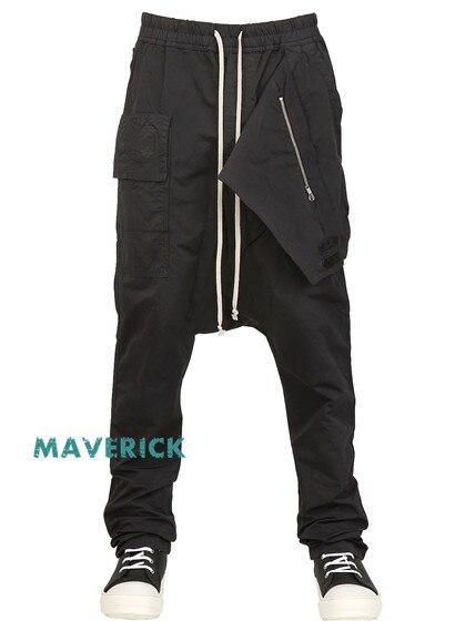 402017 Bas Pantalon Outillage Occasionnels Mode Harem Rue Entrejambe Oblique Asymétrique Marée Noir De Coton 28 Hommes OX8wZk0PNn