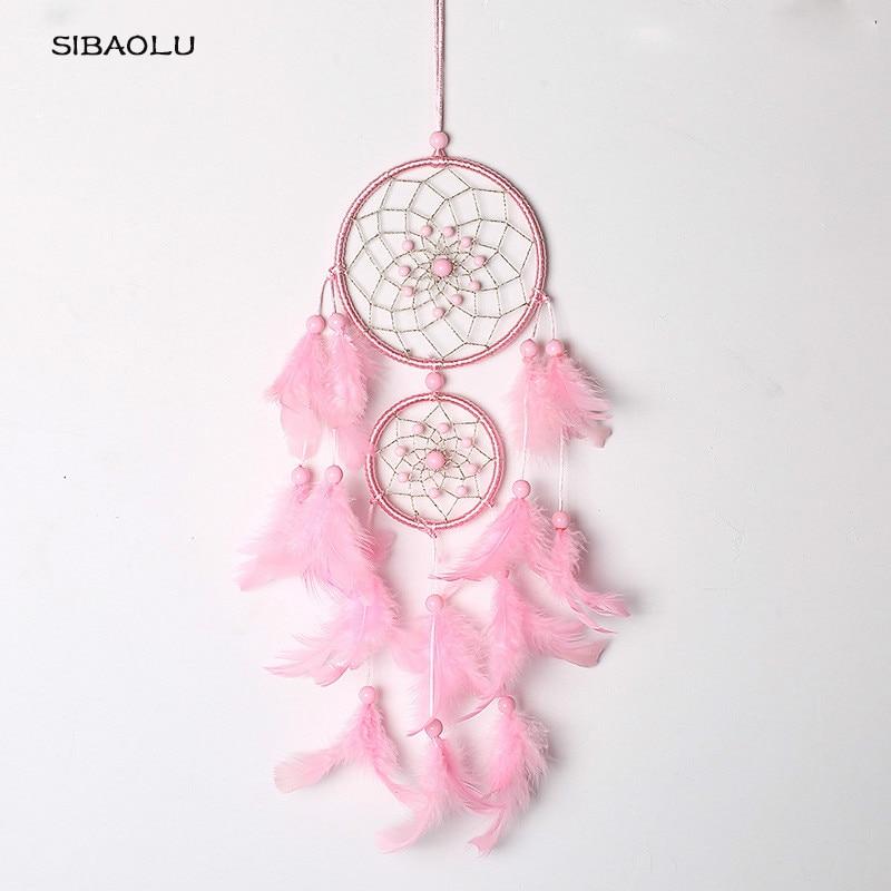Dream catcher home decoration Dreamcatchers wall hanging pink Feather Dreamcatcher nurse ...