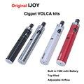 Оригинал Cigpet IJOY Volca 1500 мАч Starter Kit особенности регулируемый поток воздуха Испаритель Электронные Сигареты С 1.8 мл Бака