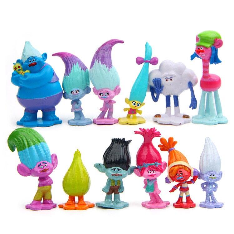 Toys & Hobbies Gentle 12pc/lot Hot Sale Trolls Action Figures Toys Kids Dolls Cartoon Toys Models Cute Desk Toys Christmas Toys For Children Dolls