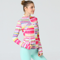 Women S Yoga Top Long Sleeve Running Quickly Dry Sports Shirts Hoodies Sweatshirt Fitness Zipper Jacket