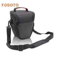 Fosoto Fashion Triangle DSLR Shoulder Bag Camera Photo Case Bags For Canon EOS 1300D 6D 70D