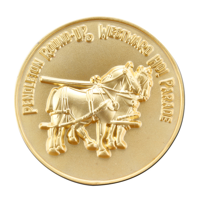 Custom Gold Coins Low Price Metal Horse Coin Animal