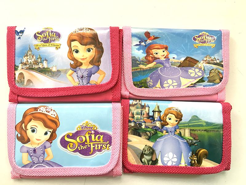 12Pcs Princess Sofia Girls Coin Purse Cute Kids Cartoon Wallet Kawaii Bag Pouch Children Purse Small Wallet Party Supplies Gift