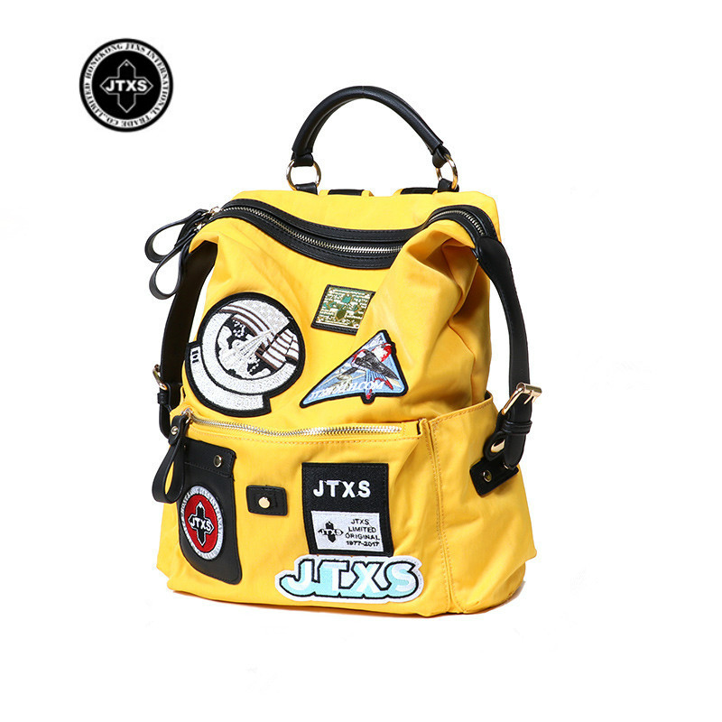 Fashion Women's Canvas Backpack Travel Schoolbag Male Backpack Men Large Capacity Rucksack Yellow Shoulder School Bag JTXS New goog yu man s canvas backpack travel schoolbag male large backpack men large capacity rucksack shoulder school bag