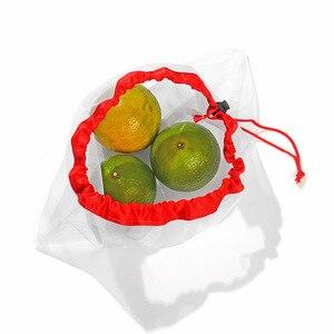 Image 5 - 1 PC לשימוש חוזר לייצר שקיות רשת חבל ירקות צעצועי אחסון פאוץ פירות & מכולת שקיות רשת אחסון תיק קניות תיק