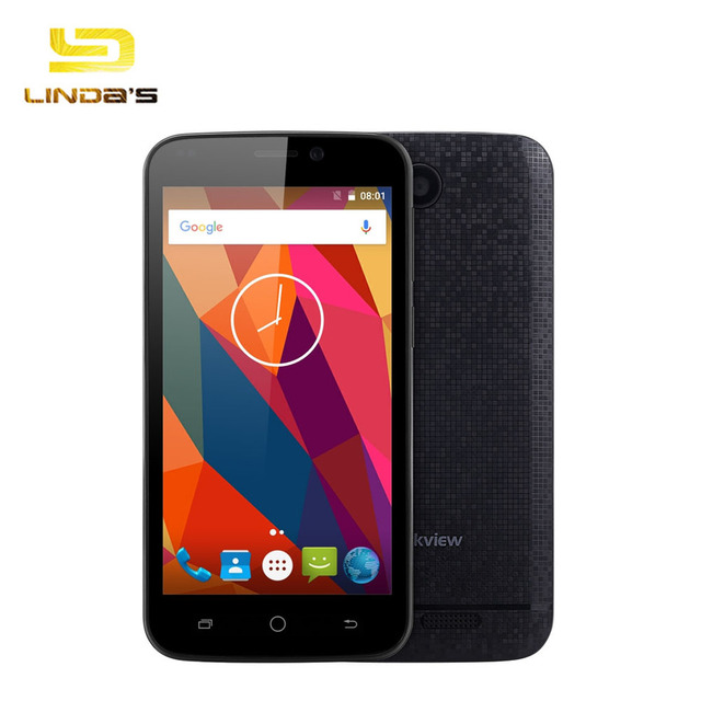 Original Android 6.0 3G Smartphone 4.5'' Blackview A5 MTK6580 Quad Core 1.3GHz 1GB 8GB Dual Cameras Bluetooth 4.0 Mobile Phone