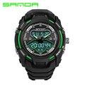 SANDA Men Digital LED Sports Watches swim fashion casual Military Wristwatches men watch relogio masculino Luxury Brand