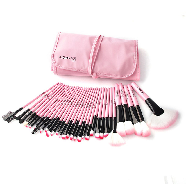 32Pcs Set Professional Makeup Brush Foundation Eye Shadows Lipsticks Powder Make Up Brushes Tools w/ Bag pincel maquiagem 3