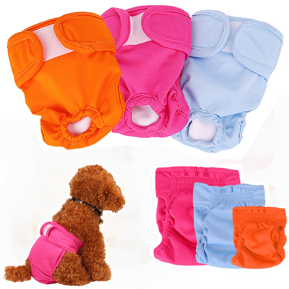 Soft <font><b>Female</b></font> <font><b>Dog</b></font> Puppy Physiological <font><b>Pants</b></font> Breathable Pet Underwear Diapers Washable Girl Pets Diaper For Small Medium <font><b>Dogs</b></font> image