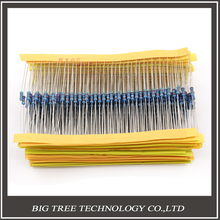 1/4W 30 Kind Metal Film Resistors Assorted kit 1% Each 20 Total 600pcs/pack ,for arduino for raspberry pi, board kit