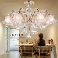 الحديثة led الثريا إيطاليا الزجاج الثريا الحرفية الزجاج الحديثة كريستال الثريا k9 كريستال led إضاءة غرفة النوم|أضواء قلادة|   -
