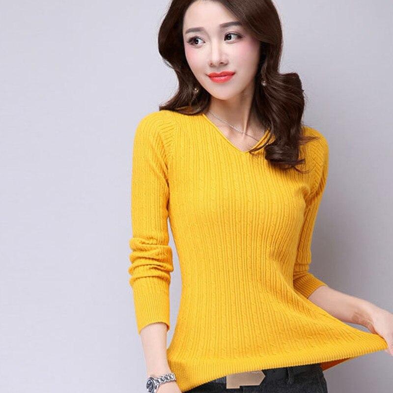 2017 nueva moda de invierno con cuello en V de punto camisa Costura camisa del t