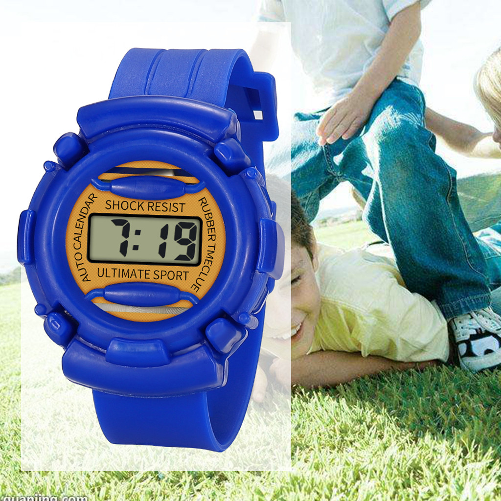 Digital Watch Children Boys Girls Analog Digital Sports Watch LED Electronic Waterproof Resin Wrist Watches horloge jongen 03*